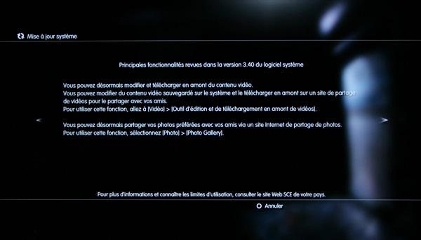 [PS3] Firmware – Mise à jour 3.40