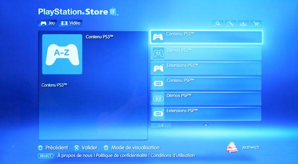 Playstation Store - Le nouveau tri des ressources