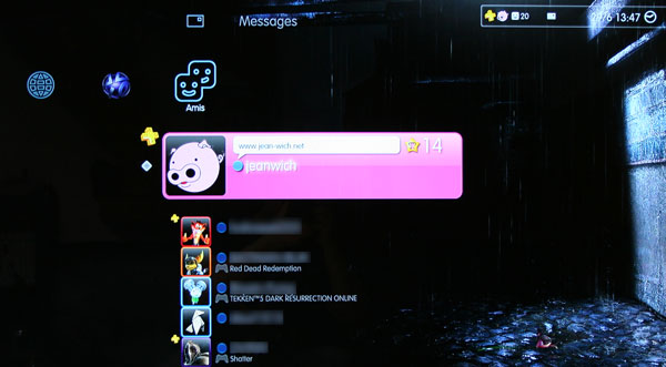 Playstation Plus - Les abonnés distingués dans le XMB